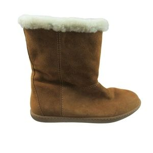 J Crew Womens Suede Shearling Warm Winter Boots